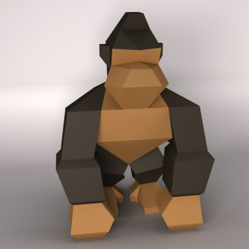 King Kong Low poly