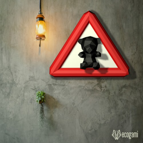 Teddy bear road sign
