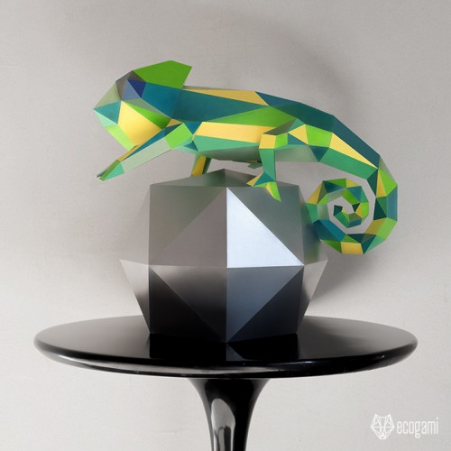 Chameleon sculpture