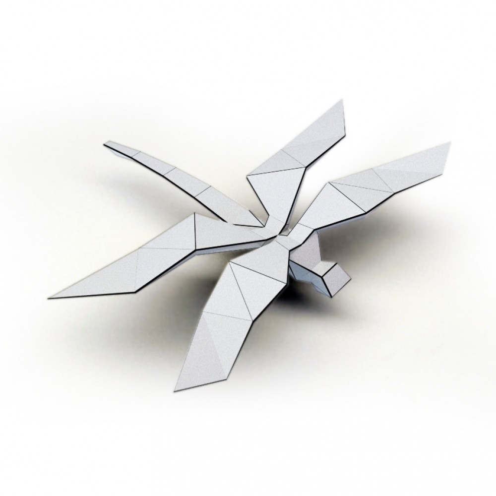 Origami Dragonfly - Tutorial - How to make an origami Dragonfly ... | 1000x1000