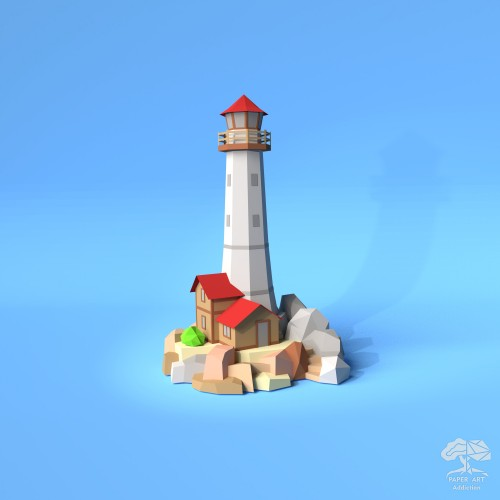 Lighthouse on the Rocks